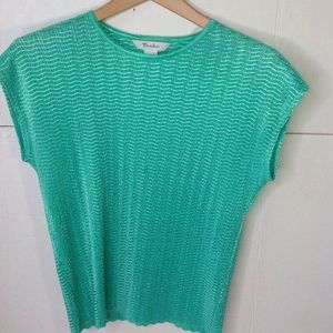 Vintage Mint Green Box Pleats Shell Top